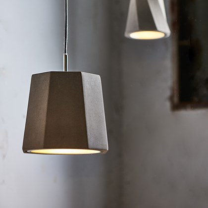 Seed Design Castle Rock Concrete Pendant - Next Day Delivery