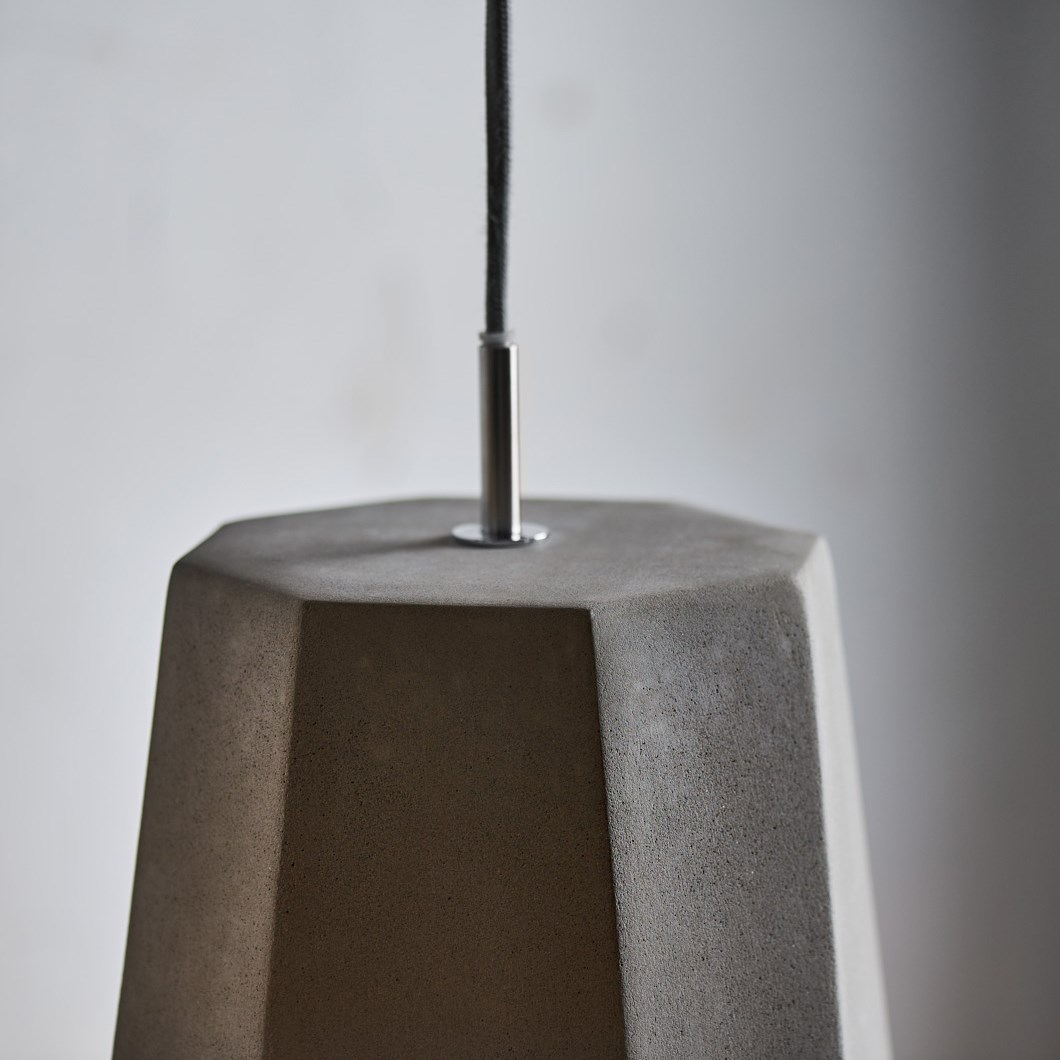 Seed Design Castle Rock Concrete Pendant| Image:1