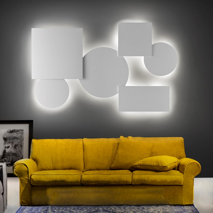 Lodes Puzzle Mega LED Wall & Ceiling Light| Image : 1