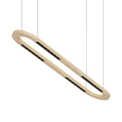 Setup Lighting Wood Linear 60 Twin Round Human Centric LED Pendant