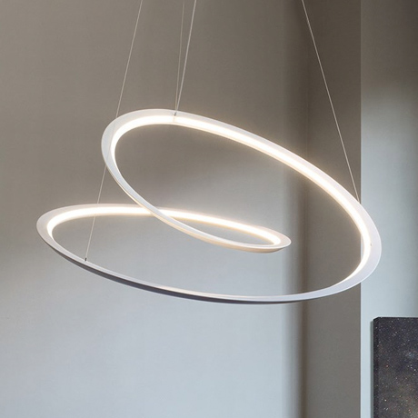 Nemo Kepler LED suspended pendant with an organic natural spiral shape