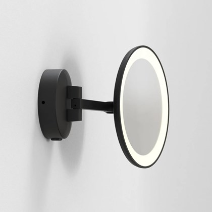 CLEARANCE Astro Light Mascali Round Adjustable LED Black Wall Light