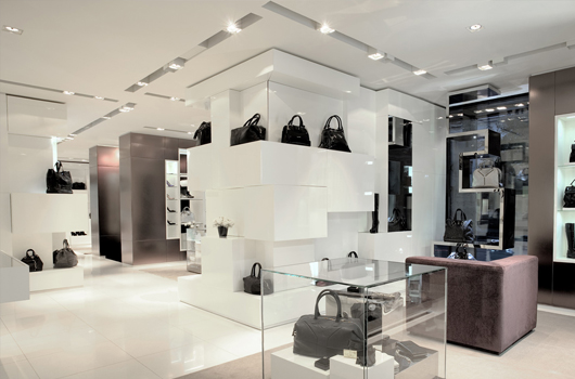 Commercial Lighting Design Handbag Boutique Case