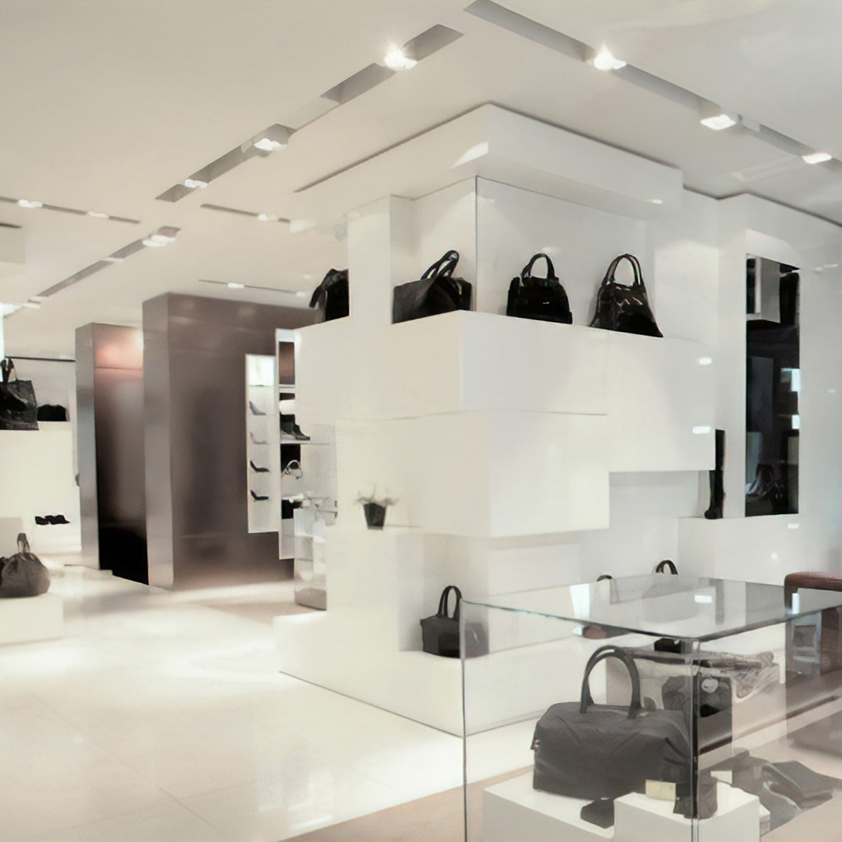 Commercial Lighting Design - Handbag Boutique