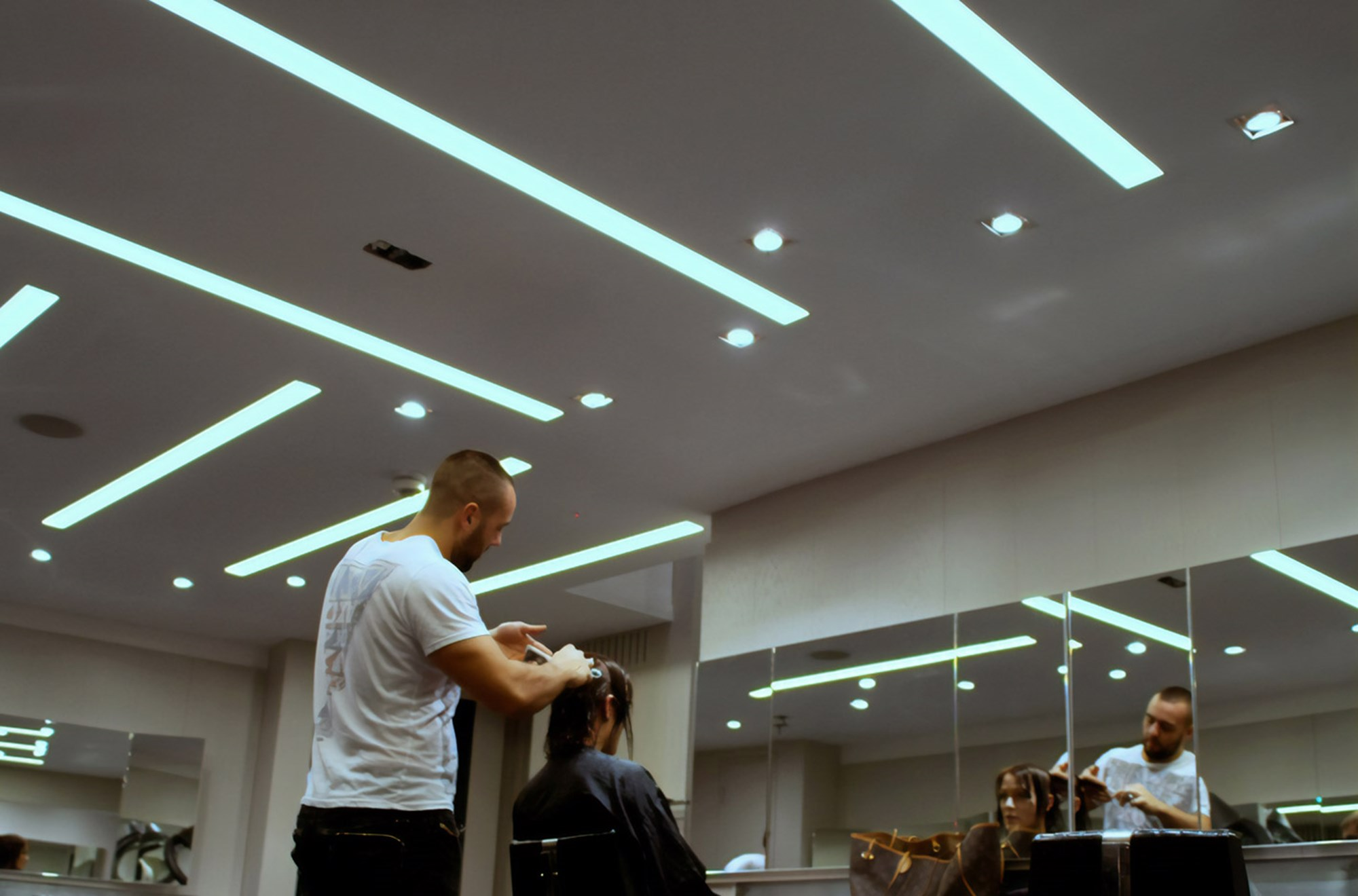 Commercial Lighting Design Windle Moo Hair Salon